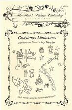 Christmas Miniatures Hot Iron Embroidery Transfers by Mamaw's Vintage Embroidery