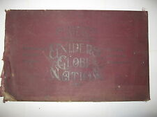 1904 Tunison'S 15x24 Atlas Of The Universe, Globe & Nation 225 Pages, Color Maps
