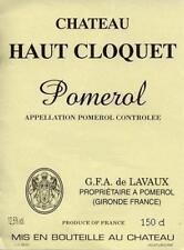 CHATEAU HAUT CLOQUET 1983 POMEROL 1 MAGNUM CAISSE BOIS