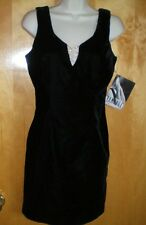 NWT NEW womens juniors XS/S size 5 black RAMPAGE velvet embellished dress