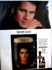 "1989 Guinness Beer Original Print Ad -SECRET LOVE DEEP DARK SECRET-9 x 11 """
