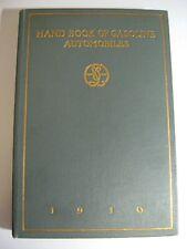 1910 Handbook of Gasoline Automobiles Hand Book Maxwell Cadillac Packard