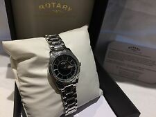 Rotary Polished Ladies Watch LB00029/04 on stainless steel bracelet RRP £119