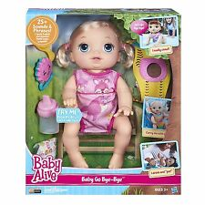 Baby Alive Baby Go Bye Bye Blonde Doll Interactive Toy Speaks English & Spanish