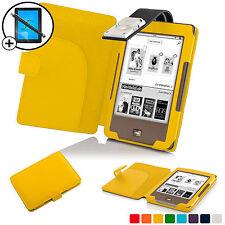 Giallo Smart Cover Con Custodia In Pelle con luce LED Luce per Tolino Pagine
