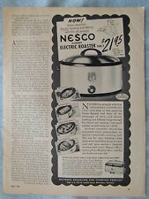1950 Magazine Advertisement Page Nesco Electric Roaster Cooker Crock Pot Old Ad