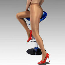 Hot Charm Women High Waist Oil Shine Glossy Shape Body Pantyhose Stocking Tights