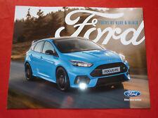 "FORD Focus RS ""Blue & Black"" Sondermodell Prospekt von 2017"