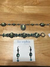 Lia Sophia Serenity 3 Piece Set ~ Necklace, Bracelet & Pieced Earrings ~NEW
