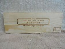 CABERNET SAUVIGNON RESERVE  NAPA VALLEY  WOOD WINE PANEL END