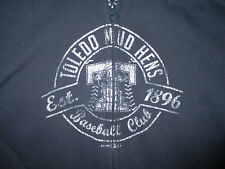 TOLEDO MUD HENS HOODIE SWEATSHIRT Zip-Up Full Zipper Baseball Blue YOUTH LARGE