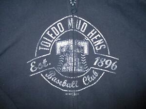 TOLEDO MUD HENS HOODIE SWEATSHIRT Zip-Up Full Zipper Baseball Blue YOUTH LARGE