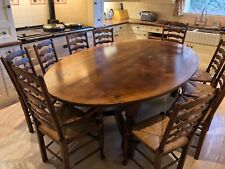 Titchmarsh & Goodwin solid English Oak oval dining table & 10 chairs rrp £14,600