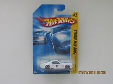 Hot Wheels 2008 NEW MODELS FORD MUSTANG FASTBACK WHITE BLUE STRIPES CARS BB-RW