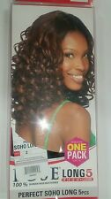 Complete curly long hair weave/ tracks/ extentions+closure  and glue included