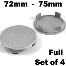 4 x ALLOY WHEEL HUB CENTRE CAPS 75mm OD / 72mm ID DOMED Borbet Ronal Aluett