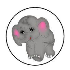 "48 Elephant!!!  ENVELOPE SEALS LABELS STICKERS 1.2"" ROUND"