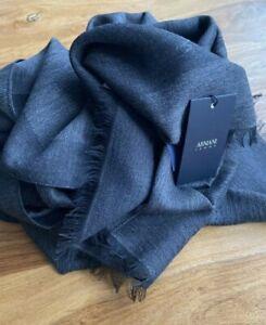 Armani Jeans Schal Dunkelgrau Unisex UVP: 129€