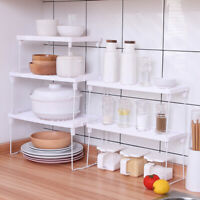 2 Tier Spice Kitchen Shelf Organizer Rack Storage Holder Cabinet Stand Seasoning