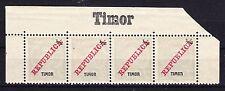 PORTUGESE TIMOR 1911 - SC# 106 UPPER EDGE WITH INSCRIPTION TIMOR MINT HINGED