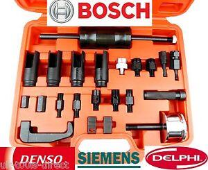 Diesel Injector Puller Remover Tool 23pc Master Kit Bosch Delphi Denso Siemen