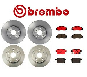 For Honda Accord Front & Rear Full Brembo Brake Kit Disc Rotors and Ceramic Pads