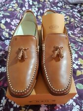 Unisex Leather Tassel Tods Loafers Size 40.5