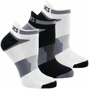 ASICS Quick Lyte Cushion Single Tab 3-Pack Mens Running Socks   Socks Comfort