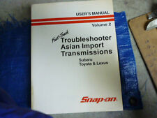 Snap On MT2500 Troubleshooter Asian Imports Transmissions User's Manual Vol2 01