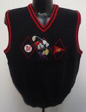 Mickey Mouse Womens Large Golf Vest Stitch Disney Vintage Retro Vtg Donn Kenny