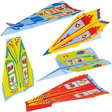 Papierflieger Set 10 Stück Papier Flugzeuge bedruckt bunte Papierflugzeuge goki