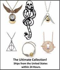 Harry Potter Golden Snitch Watch Necklace Bracelet Tattoo Time Turner Deathly Ha