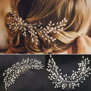Pearl Wedding Hair Comb Hair Accessories for Bridal Flower Headpiece Jewelry