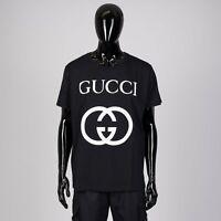 GUCCI 480$ Oversize Tshirt With Interlocking G In Black Cotton