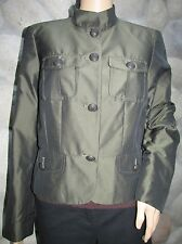 Gorgeous Calvin Klein Shiny Green Metal Button Up Fully Lined Jacket Size 8