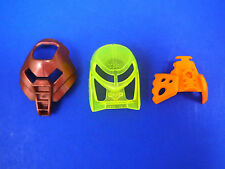 LEGO Bionicle Kanohi Masks 2001 Collection Copper Huna, TNGM & Orange Vahi