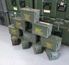 US Military Surplus 50 CAL M2A1 Ammo Cans LOT OF 10 Airtight Steel 12x6.5x7.5
