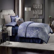 Jennifer Lopez Queen Full Duvet Comforter Cvr-Shams Center Stage Blue Silver$260