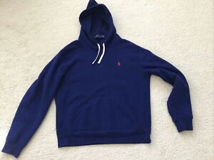 Polo Ralph Lauren Blue Fleece Lined Hoodie - Medium