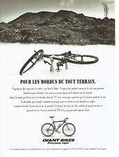 Publicité Advertising 107  1995  Giant Bikes  vtt vélo