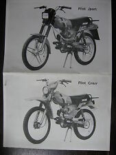 MOTO CYCLO PILOT SPORT CROSS MALAGUTI CATALOGUE BROCHURE PROSPECTUS SALON 1982