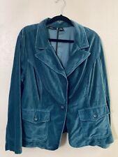 Mixit Woman Stretch Turquoise Velvet Blazer Plus 2x