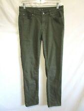 "Prana Short Inseam Olive Green Stretch Skinny Jeans Women Size 4/27, 31""W x 28""L"