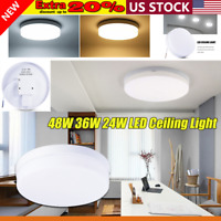 48W 36W Round LED Ceiling Light Fixtures Kitchen Ultra Thin Flush Mount Home AC