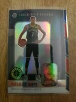 Kevin Durant 2019-20 NBA Hoops Premium Stock Frequent Flyers Silver Prizm Nets