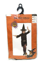 Girls Black Witch Costume Fancy Dress Costume Kids Outfit Halloween Fun 3-5 year