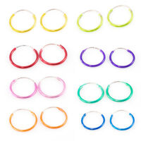 """Pair of Hinged Hoop 22 Gauge 1/2"""" (13mm) Perfect for Cartilage, Helix, Rook"""