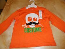 new Infants~ childs~Halloween costume shirt SKULL w/ Mustache Size 18 months FUN