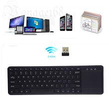 2.4GHz Slim USB Wireless Keyboard Touchpad For Desktop Laptop Mac PC Gaming AU