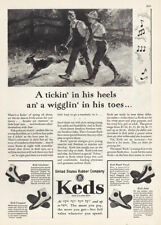 1929 Keds Shoes: Tickin In His Heels Wigglin In His Toes Vintage Print Ad